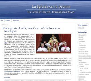 Iglesia en la prensa