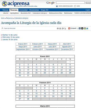 Aci Prensa Calendario.La Liturgia De La Iglesia En Aciprensa Casa Para Tu Fe