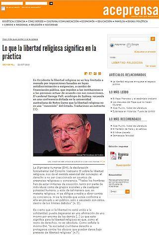 Trampas contra la libertad religiosa