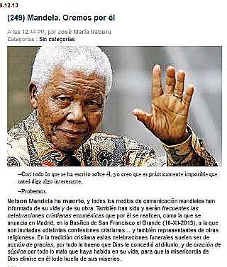 Orar por Mandela