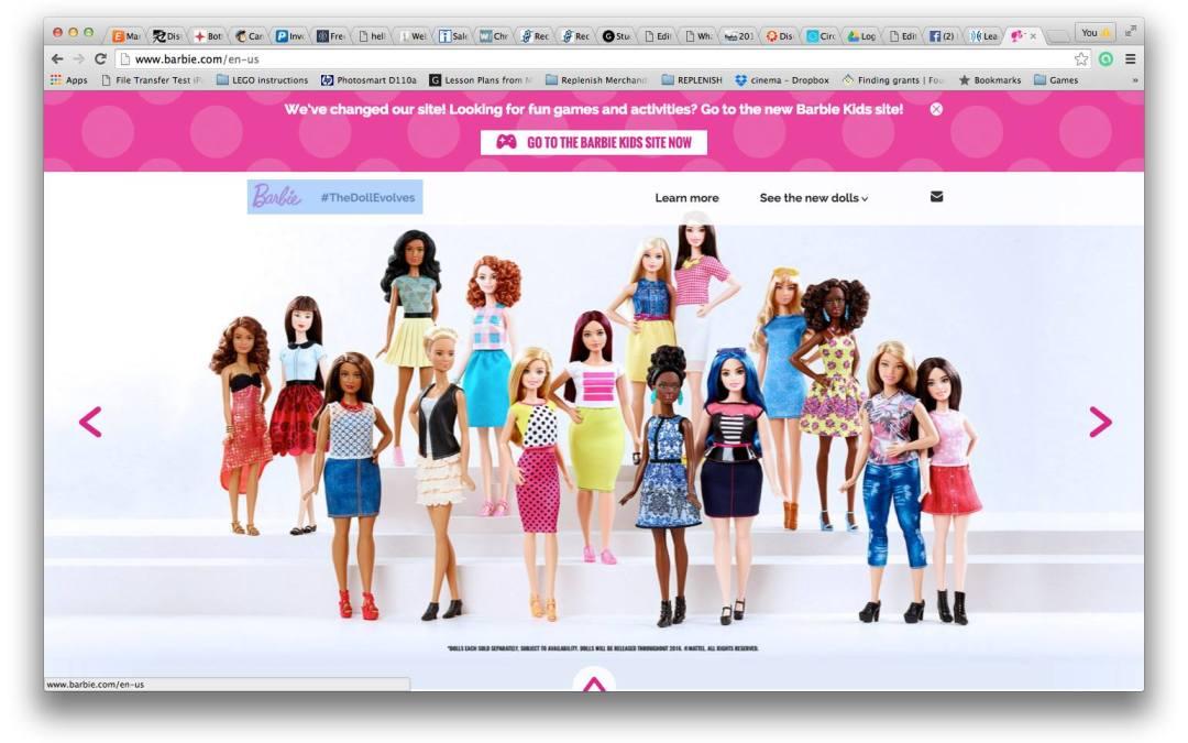 Barbie's new body type