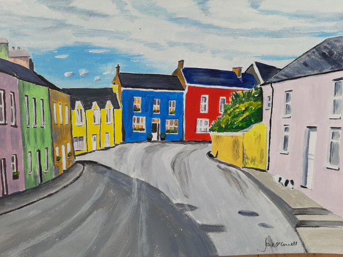 Student's artwork from Maeve O'Keeffe's art classes