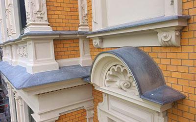 Verflechtungen von Fassaden frb Dachdecker, Bauklempnerei