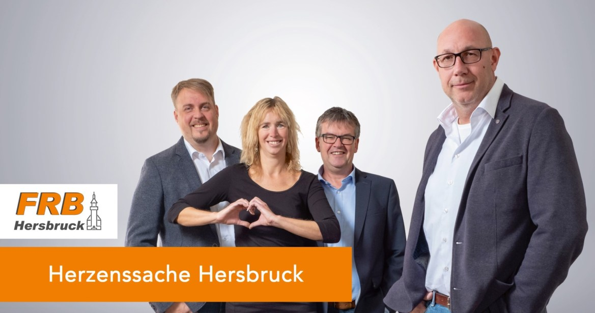 Markus Pawelke, Ute Häffner, Roland Winkler und Volker Hegel setzen sich für die Unterstützung der Hersbrucker Vereine ein.