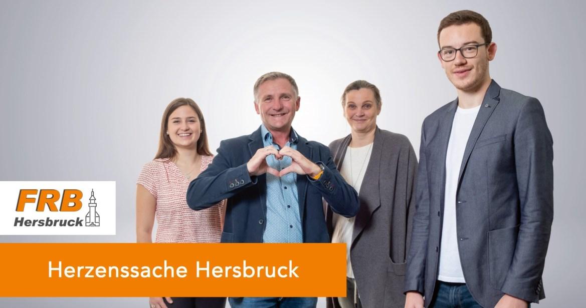 Magdalena Ilg, Werner Schwarz, Marion Schmitt und Fabian Raum setzen sich für bezahlbaren Wohnraum in Hersbruck ein.