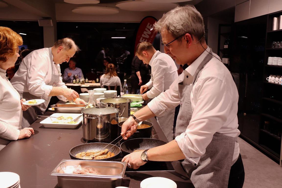 Show-Cooking in der Fackelmann Welt Hersbruck mit Robert Ilg und Armin Kroder
