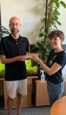 Herr Dr. Tapken, Gewinner des goldenen Rotstiftes im Sommersemester 2018
