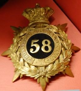A 58th Rutlandshire Regiment other ranks' shako plate