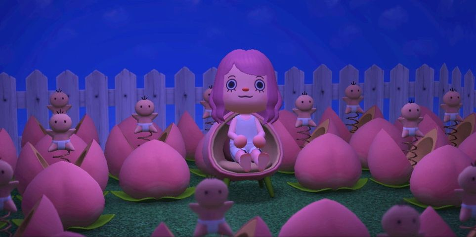 Horror-Themed Design Ideas For Animal Crossing: New ... on Animal Crossing Room Ideas New Horizons  id=52419