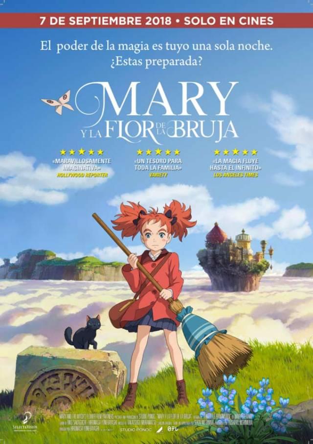 Mary y la flor de la bruja datos