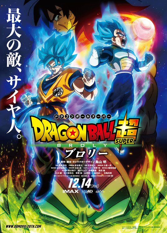 Dragon Ball Super Broly datos pelicula