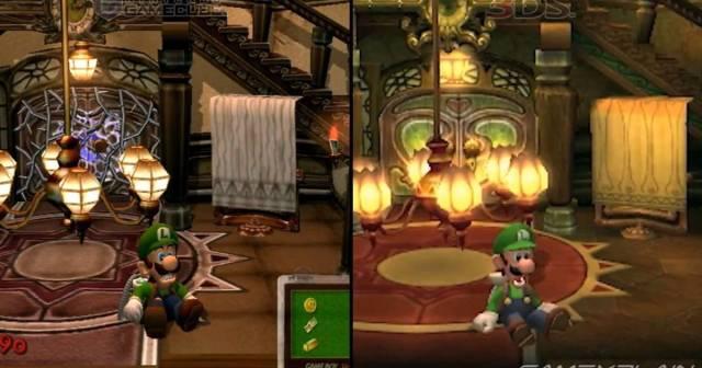 Diferencias Luigi's Mansion