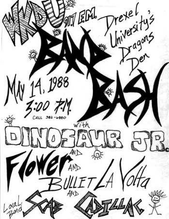 Dinosaur -Live WKDU Band Bash 05/14/88