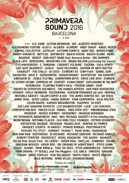 Primavera Sound 2016 Barcelona lineup