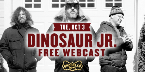 Dinosaur Jr. live from Brooklyn Bowl on Tuesday, October 3