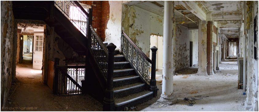 Abandoned Hospital Staircase