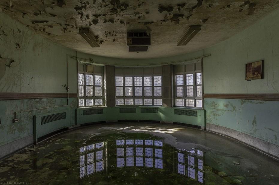 Urban Exploration Photography of abandoned psychiatric hospital