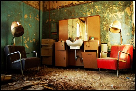 abandoned insane asylum beauty salon