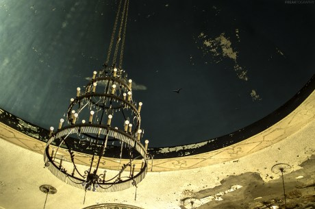 Abandoned Church Chandelier