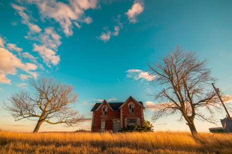 An abandoned house found along a back road in Ontario Canada.