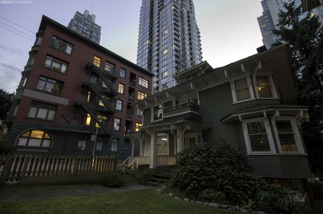 Vancouver Photography: A small home in the middle of shyscrapers