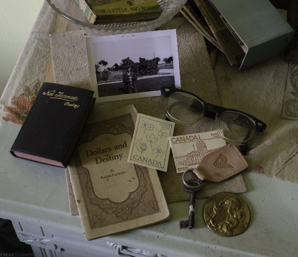 Items left behind in an abandoned house in Ontario, Canada.