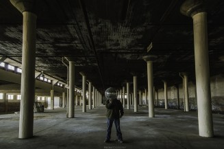 Having fun with a Disco Ball found in an abandoned building in Toronto.