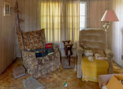 70's house, Freaktography, abandoned, abandoned chairs, abandoned photography, abandoned places, carpet, chairs, creepy, curtains, decay, derelict, freaktography.com, haunted, haunted places, photography, urban exploration, urban exploration photography, urban explorer, urban exploring
