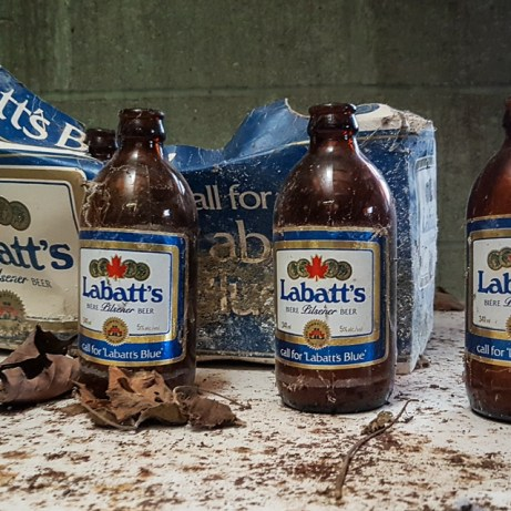 Freaktography, abandoned, abandoned photography, abandoned places, creepy, decay, derelict, haunted, haunted places, labatts, labatts blue stubbies, old beer bottles, photography, stubbies, stubby, urban exploration, urban exploration photography, urban explorer, urban exploring