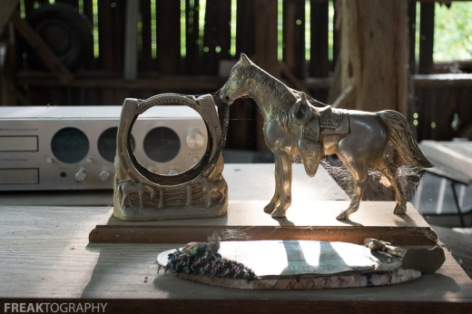 Items found outside and in the barn of this abandoned time capsule house by freaktography