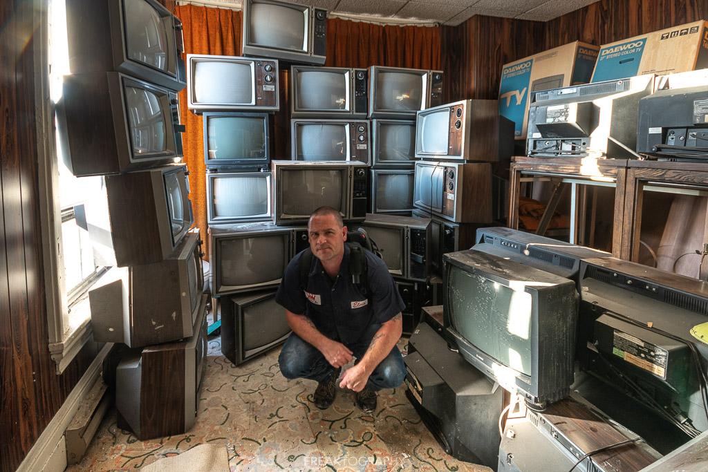 Abandoned TVs Freaktography Self Portrait