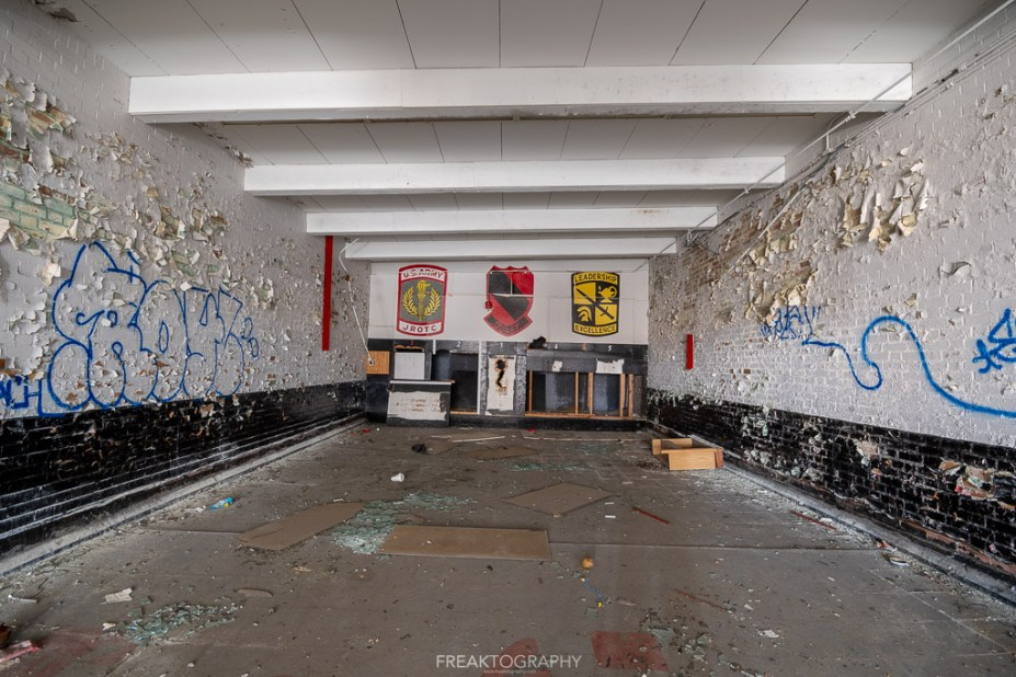 abandoned detroit cooley high school firing range