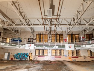 abandoned detroit cooley high school gym
