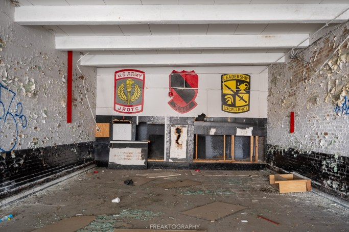 abandoned detroit cooley high school rifle range