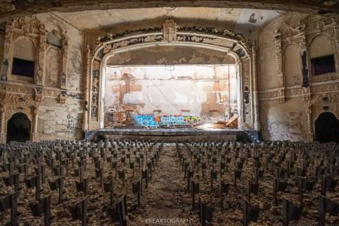 abandoned detroit cooley high school theatre