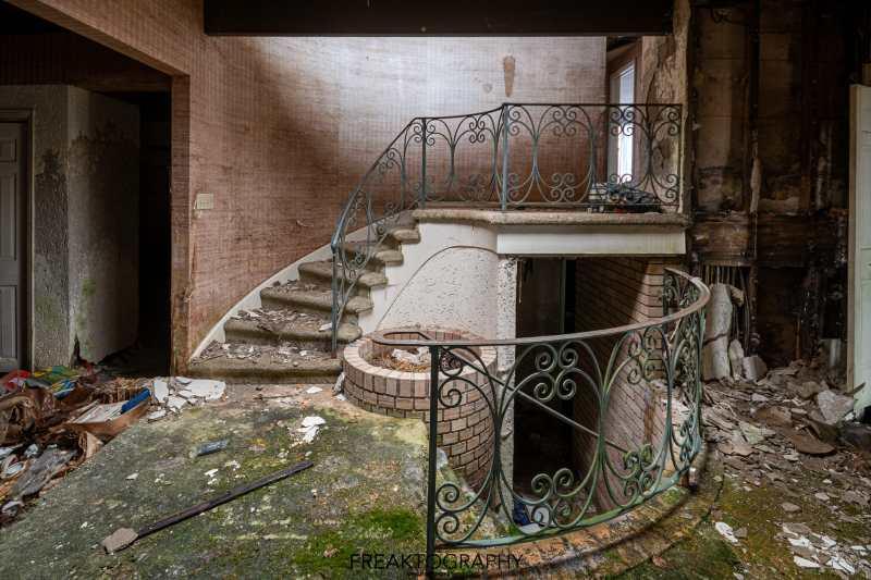 Abandoned House with Abandoned Luxury BMW