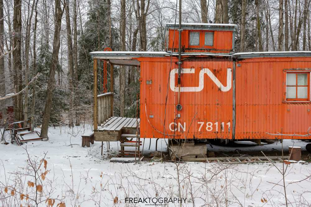 abandoned cn rail caboose