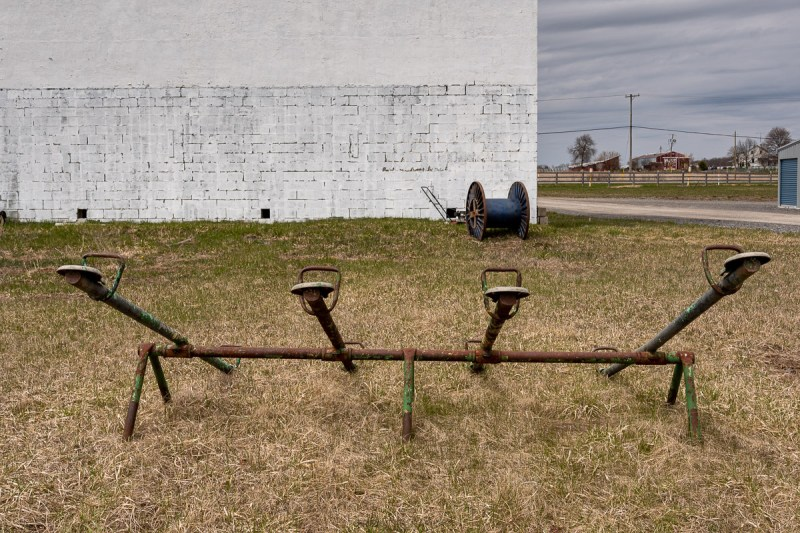 abandoned playground and drive in