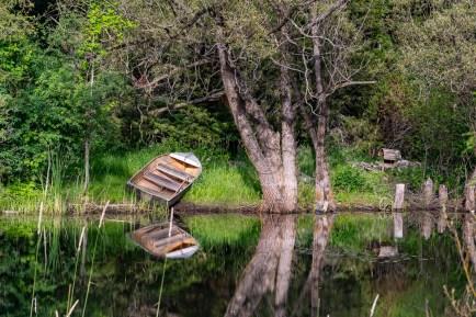 Pond Fishing Boat Ontario Canada