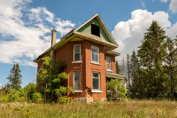 abandoned house meaford ontario