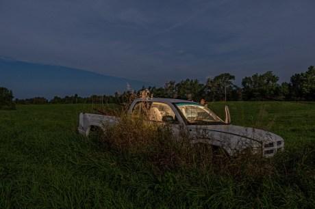 abandoned truck full moon balaclava ontario