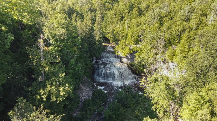 jones falls waterfall owen sound