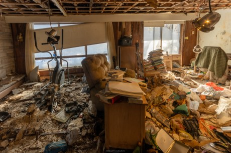 artist and authors abandoned time capsule house