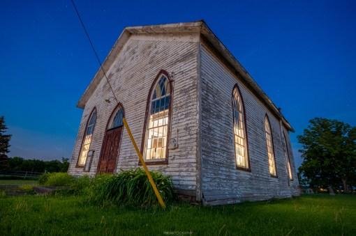 abandoned ontario church night photography