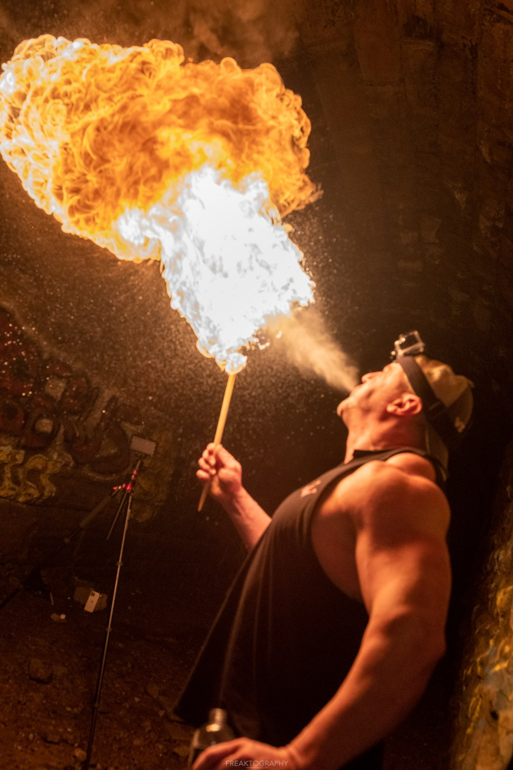 screaming tunnel fire breathing photography