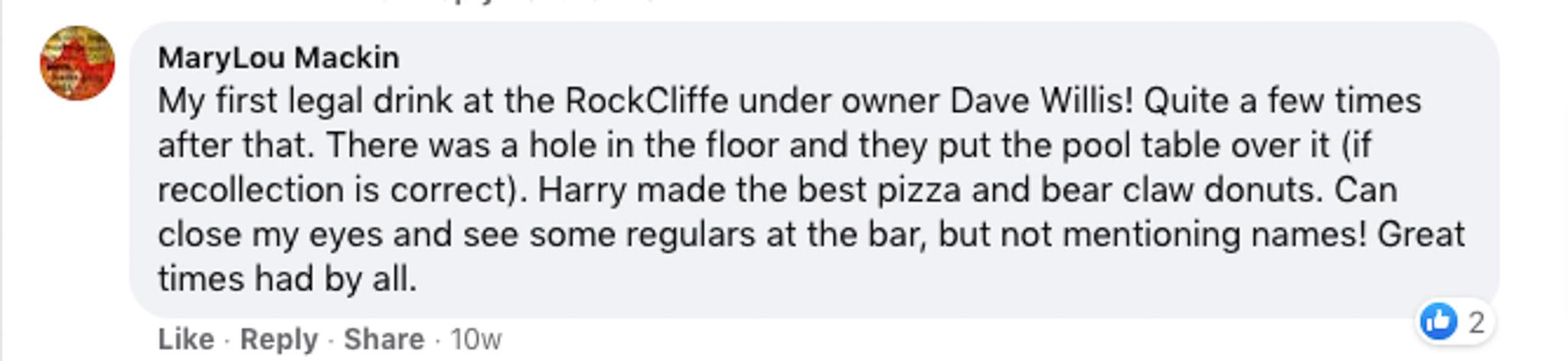 rockcliffe tavern memories