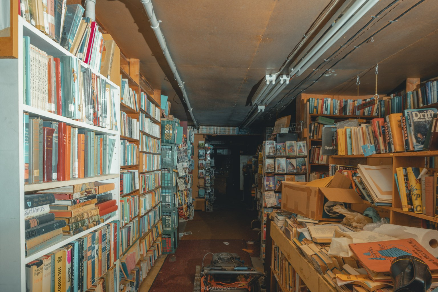 abandoned book store
