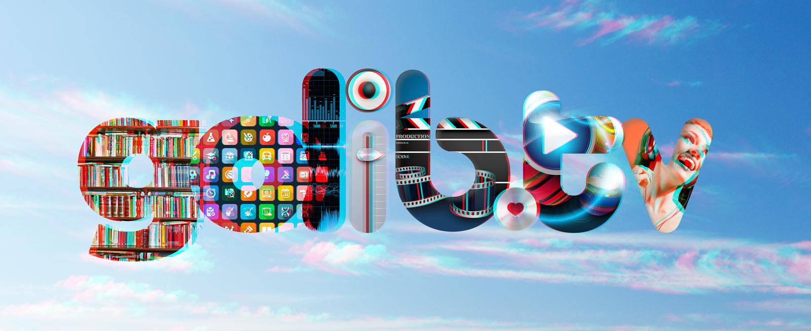 Golib.tv Typography 3D