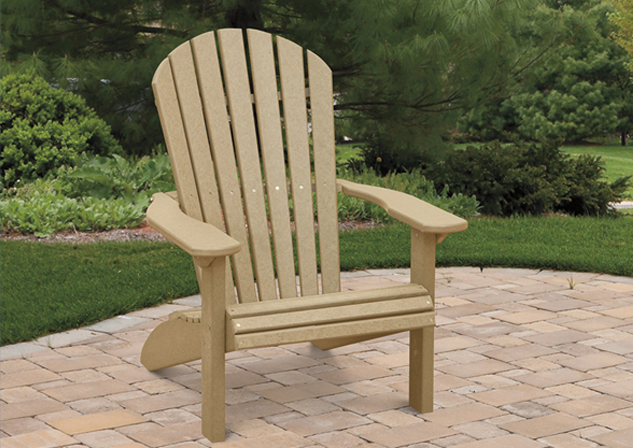 Amish Poly & Wood Outdoor Lawn & Patio Furniture In