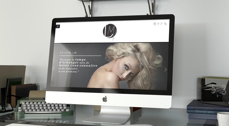 Design Web pour LM Coiffure Lyon Freckles